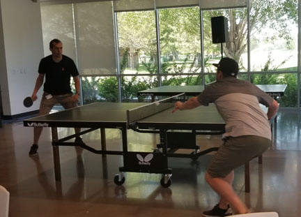 Learning to play ping pong