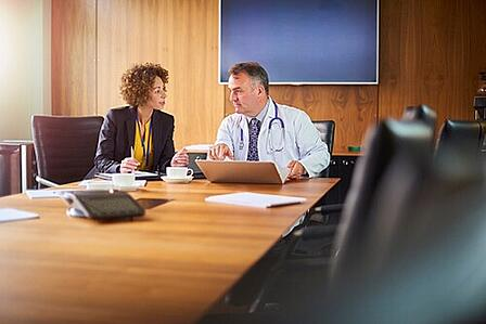 Healthcare practice reviewing information on MIPS