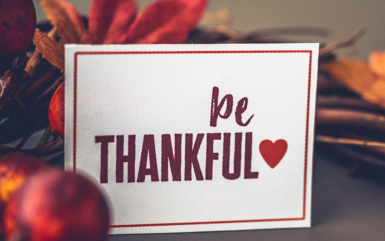 Show gratitude for patients and staff