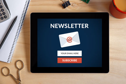 Regular newsletters improve the patient experience