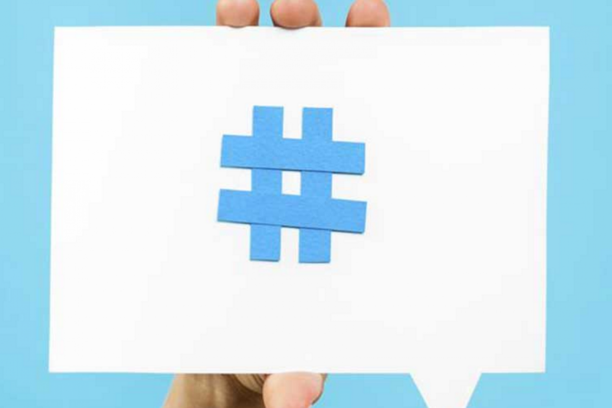 Healthcare conversations are marked with a hashtag on Twitter