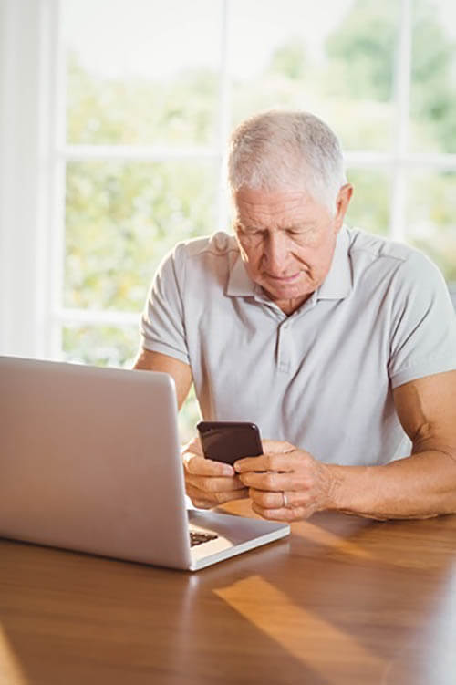 Elderly patients can take advantage of the technology offered by their healthcare providers