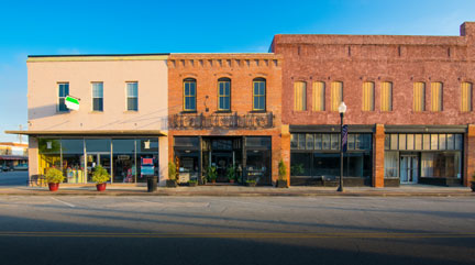 Businesses can end up in the wrong side of town