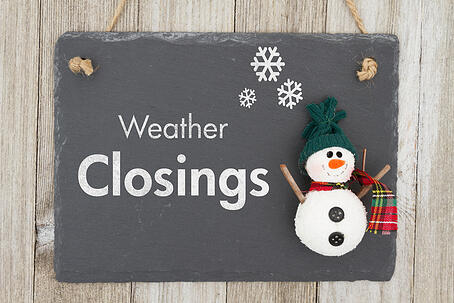 Understand your financial responsibilities during weather closures