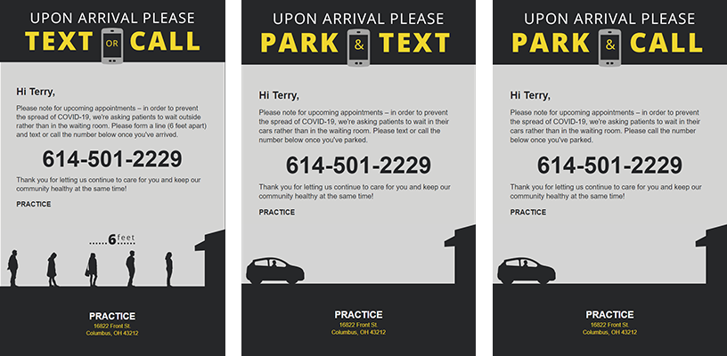 Park and text signage