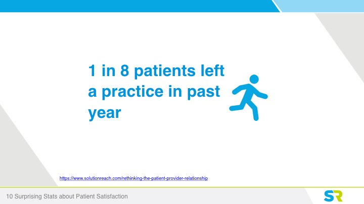 1 in 8 patients left a practice last year
