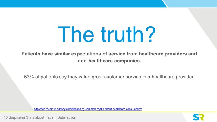Patients are customer focuses