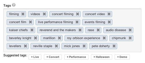 Use specific tags to highlight what your video is about