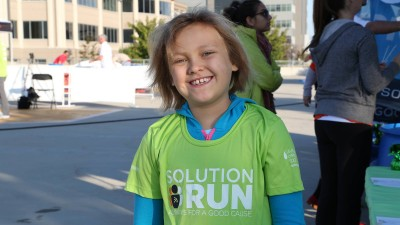 Charlotte from LLS at SolutionRun for Charity 2014