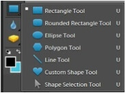 Example of shapes screen