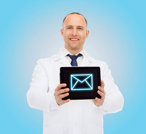 segment the patient database to send timely information
