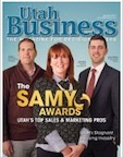 Kelly Morris on the cover of Utah Business Magazine