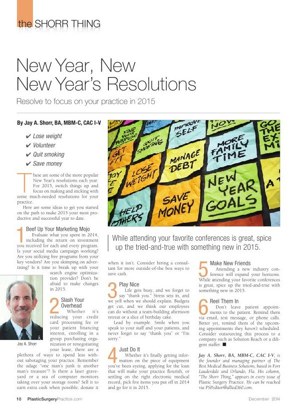 New Year, New Year's Resolutions