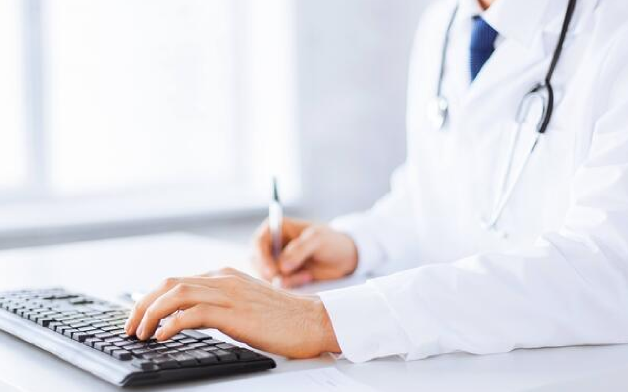 doctor-typing