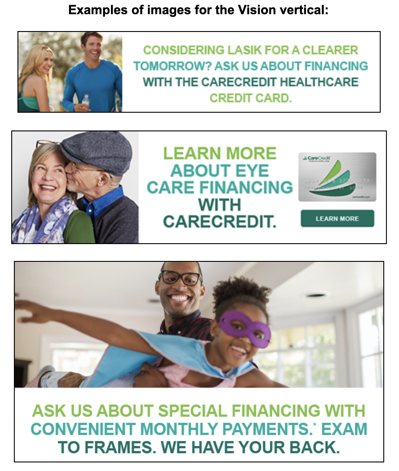 CareCredit example images